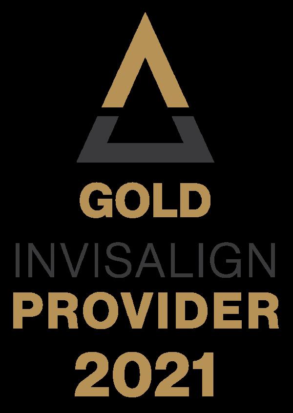 Gold Invisalign Provider badge